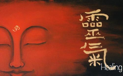 Healing Art - Buddha con Ideogramma Reiki